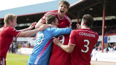 Aberdeen rescued a point with a goal late in the game