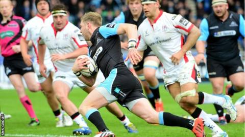 Man-of-the-match Finn Russell ran in two tries for Glasgow