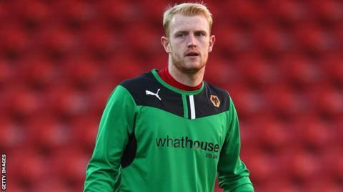 Wolves goalkeeper Aaron McCarey