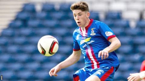 Inverness midfielder Ryan Christie