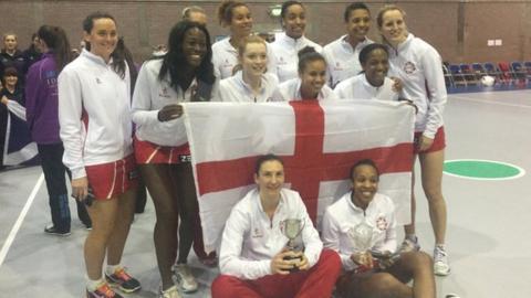 England's victorious netball team