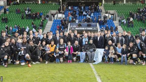 The Glasgow Warriors squad