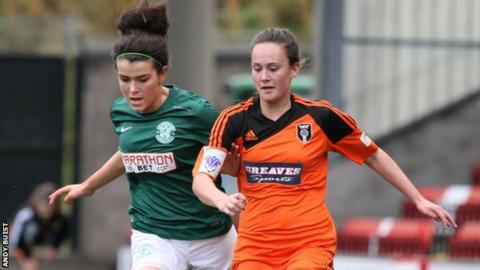 Hibernian Ladies against Glasgow City