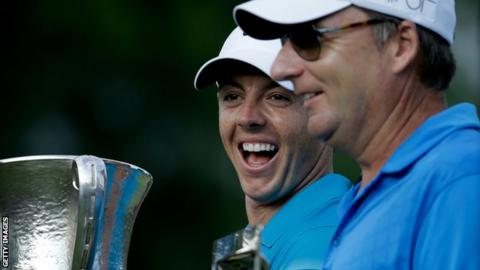 Rory McIlroy with Quail Hollow trophy