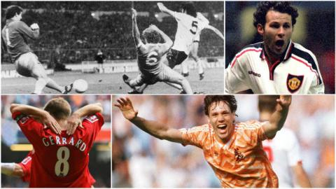 Ricky Villa, Ryan Giggs, Steven Gerrard and Marco van Basten
