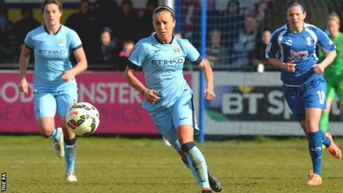 Manchester City midfielder Natasha Harding