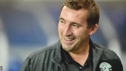 Hibs manager Alan Stubbs