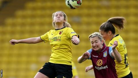 Stacie Donnelly (left) playing against Aston Villa