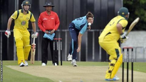 Iain Wardlaw in action