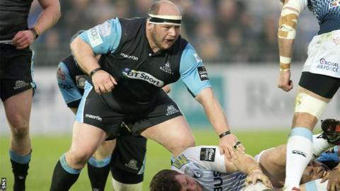 Mike Cusack in action for Glasgow Warriors