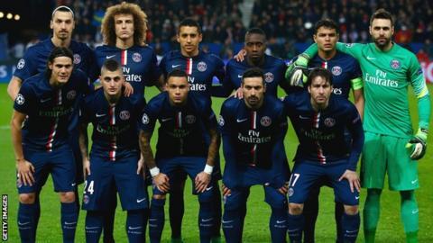 Paris St Germain team