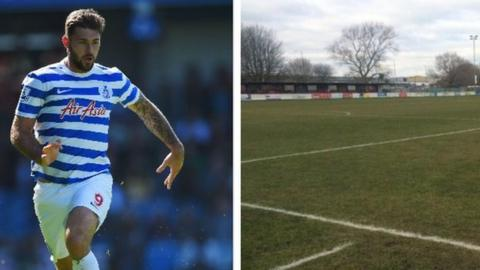 Charlie Austin and Poole Town