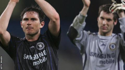 Frank Lampard and Petr Cech