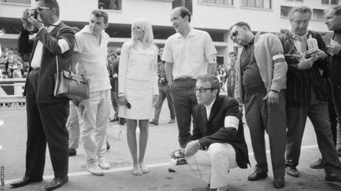 20th May 1966: Swedish actress Britt Ekland with her husband, Peter Sellers