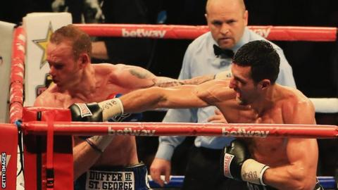 Carl Froch (right) beat George Groves last year
