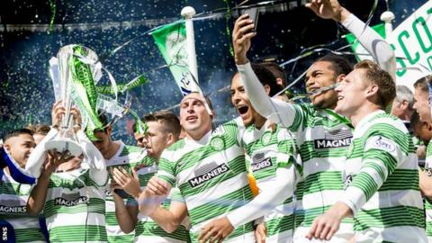 Celtic lifted the Scottish Premiership title after a comprehensive victory over Inverness CT