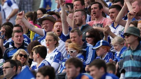Monaghan supporters were able to celebrate a victory over neighbours and rivals Cavan at Breffni Park