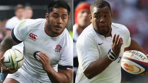 Manu Tuilagi and Steffon Armitage for England