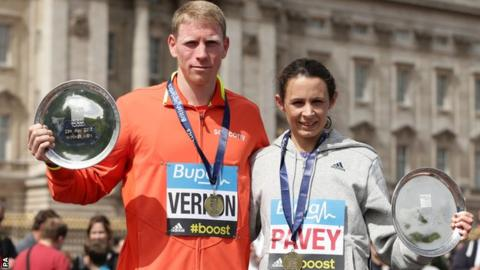 Andy Vernon and Jo Pavey