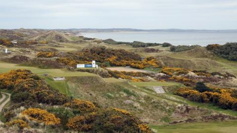 A general view of the Royal County Down links course overlooking Dundrum Bay