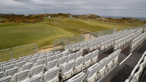 The grandstands will be full as tickets for three days of the Irish Open at Royal County Down have been sold out
