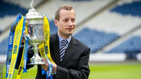 Willie Collum will oversee Inverness CT v Falkirk at Hampden on Saturday