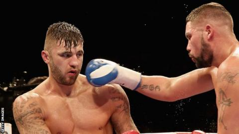 Nathan Cleverly (left) and Tony Bellew (right)