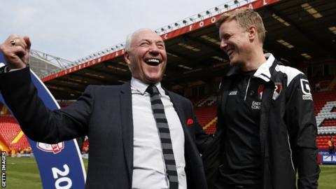 Jeff Mostyn and Eddie Howe