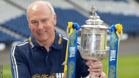 Alex Totten with the Scottish Cup