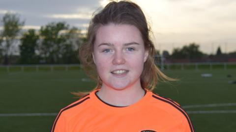 Clare Shine in Glasgow City colours