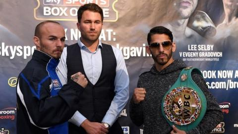 Kevin Mitchell, Eddie Hearn and Jorge Linares