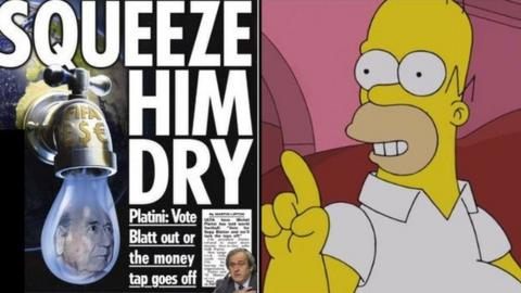 The Sun and Homer Simpson
