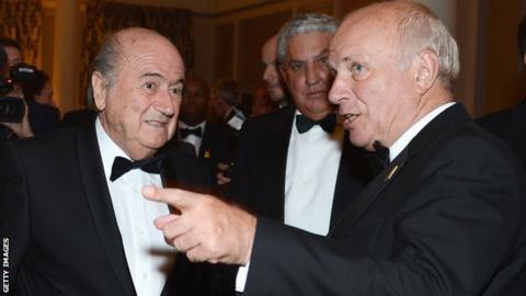 Sepp Blatter and Greg Dyke