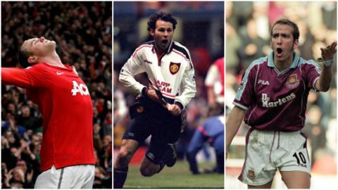 Wayne Rooney, Ryan Giggs, Paolo Di Canio