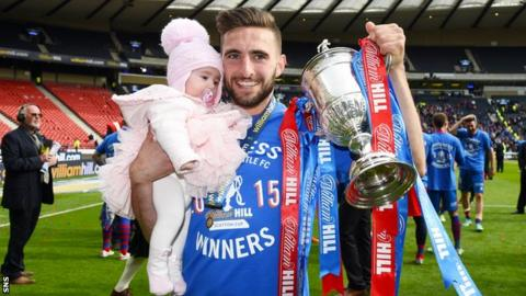 Graeme Shinnie with the Scottish Cup
