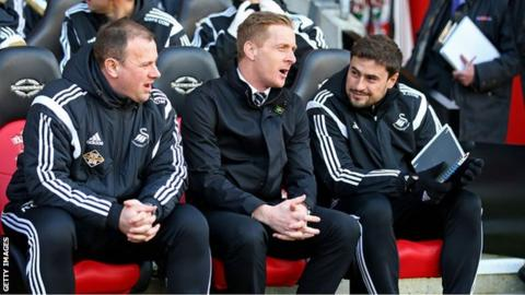 Swansea boss Garry Monk was shortlisted for the League Manager of the Year