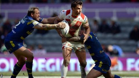 Benny Westwood and Chris Bridge combine to halt Saints skipper Jon Wilkin