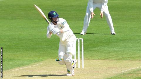 Craig Meschede is now Glamorgan's highest run scorer in the Championship this season, with 405