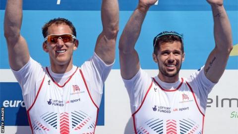 James Foad (right) with Matt Langridge