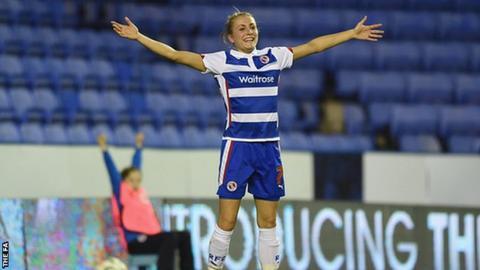 Reading goal scorer Emma Follis