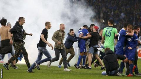 Dnipro Dnipropetrovsk fans
