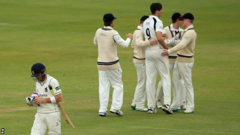Laurie Evans parted just two short of a century at Lord's