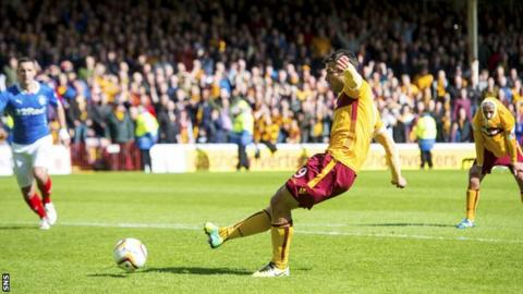 John Sutton's penalty on Sunday made it 3-0 to Motherwell, and 6-1 on aggregate