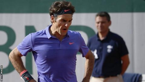 a2cbb44ca Roger Federer beaten by Stan Wawrinka at the French Open - BBC Sport