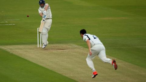 Toby Roland-Jones troubled all the Warwickshire top order batsmen at Lord's
