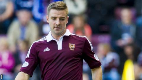 Scott Robinson in action for Hearts
