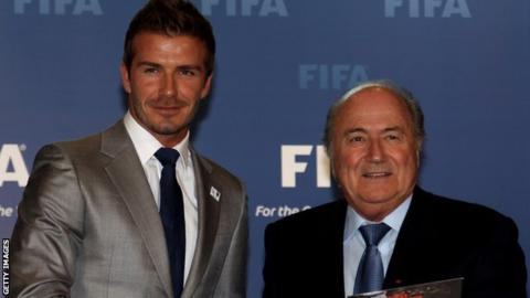 David Beckham & Sepp Blatter