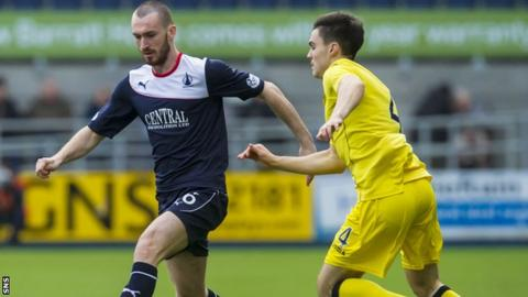 Former Celtic left-back Joe Chalmers (left) had a loan spell with Falkirk