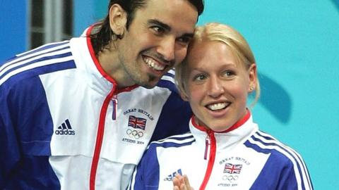 Nathan Robertson (left) and Gail Emms