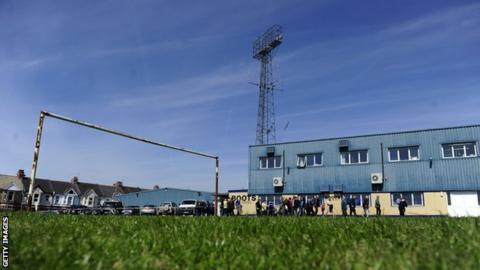 Torquay's Plainmoor stadium